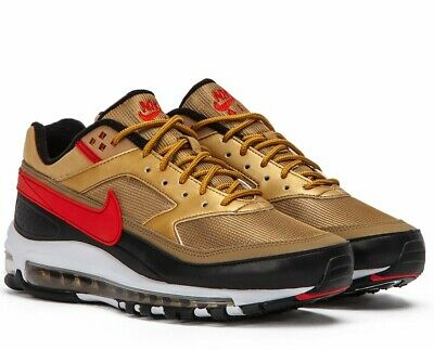 newest 65bbd 37a68 Nike Air Max 97 bw Metallic Gold black Sneakers Scarpe Uomo Ao2406-700