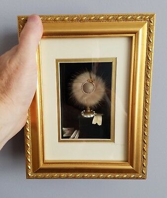 1:12 Dollhouse Miniature Framed Guardian Angel Picture #HC609B