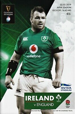 Ireland v England rugby programme. Dublin, 2nd February 2019