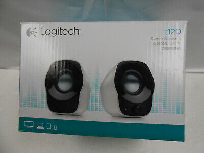 1ed739110a6 LOGITECH Z120 COMPUTER Stereo Speakers (White) - $18.99 | PicClick