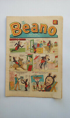 Retro Beano Comic from 1968 #1355 WITH Lord Snooty Gang puppet cut out