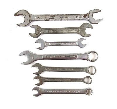 Combination Open End SAE Wrench Assorted Lot Of 7 Gedore Master Mechanic