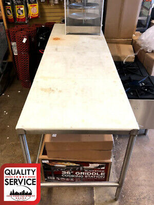 "Commercial  Poly Top Work Table Stainless Steel - 30"" x 96"""