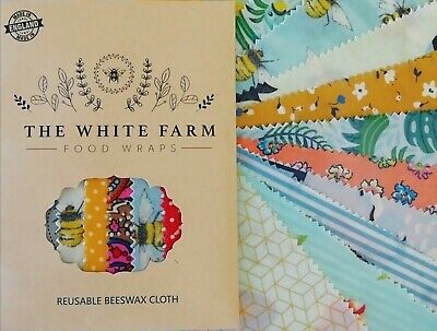 100% Natural Beeswax Food Wraps, Build Your Set, FREE string and button, ECO