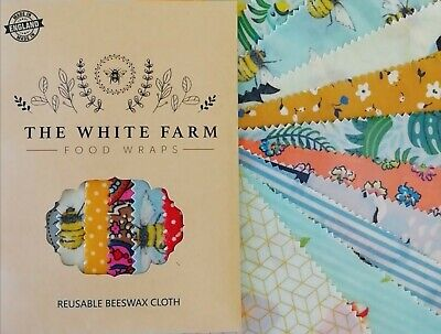 Eco Habit 100% Natural Beeswax Food Wraps, Choose Your Fabric And Sizes Handmade