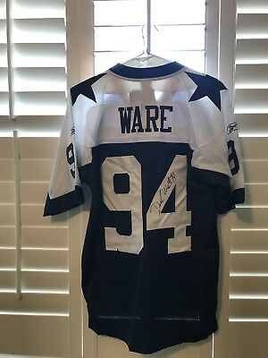 f4c5a4997 DEMARCUS WARE SIGNED RBK Dallas Cowboys throwback jersey w COA ...