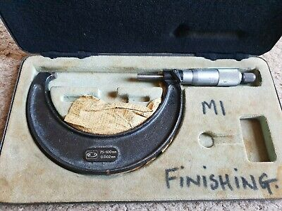 Moore wright external micrometer 75mm - 100mm