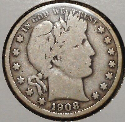 Barber Half - 1908-D - Historic Silver! - $1 Unlimited Shipping