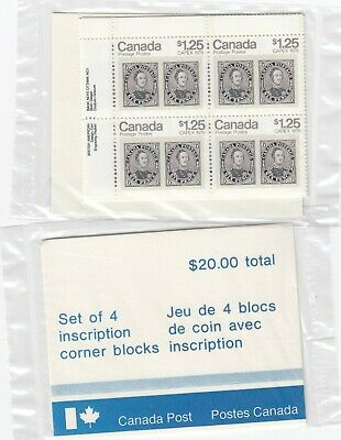 756 Prince Albert Corner Block Inscription Set Of 4    Face $ 20.00