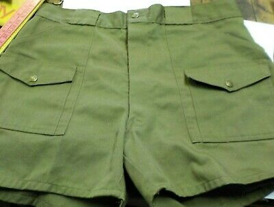 Vintage Official Boy Scout Green Uniform BSA Cargo Shorts Mens 34