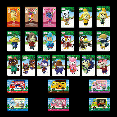 25PCS PVC NFC Cards Animal Crossing Sanrio/Promos/Figures Series for Switch/3DS