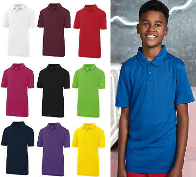 Kids Polo Shirts Boys & Girls AWDIS Kids Cool Polo School Shirt JC40J