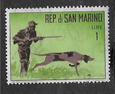 San Marino Postal Issue - 1962 Mint Never Hinged Commemorative Stamp - Hunting