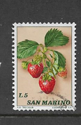 San Marino Postal Issue - 1973 - Used Commemorative Stamp - Fruits - Strawberry