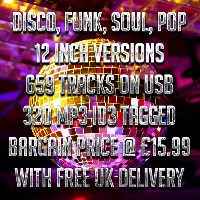 (USB) Disco, Funk, Soul, Pop 12 Inch Versions - 659 Tracks - 320 MP3