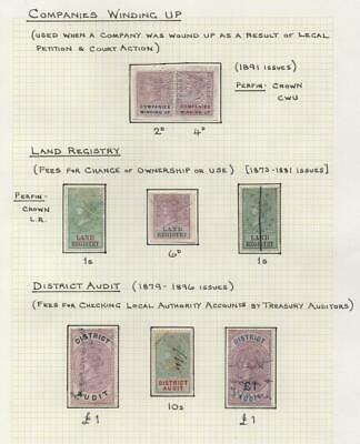 GB: Queen Victoria Revenue Stamps - Ex-Old Time Collection - Album Page (21451)