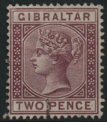 GIBRALTAR: 1886 - Sg 10 - 2d Brown-Purple Fine Used Example (22209)