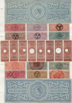 INDIA: Queen Victoria Revenues - Ex-Old Time Collection - Album Page (22126)