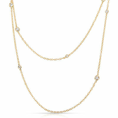 ee3129714 Tiffany & Co. Elsa Peretti Sprinkle Diamond Necklace in 18K Yellow Gold  1.21 CTW