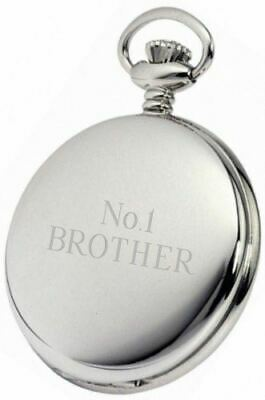 Personalised Silver Brother Pocket Watch Pw123