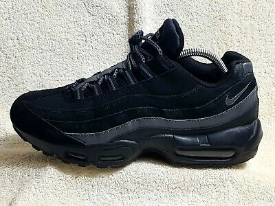 online retailer f01b2 bb5e6 Nike Air Max 95 Essential mens trainers Leather Black Reflective Grey UK 7  EU 41