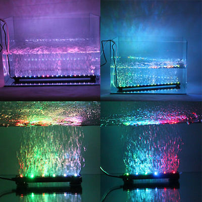 Color Changing LED  Fish Tank Air Bubble Light for Aquarium Submersible Lighting