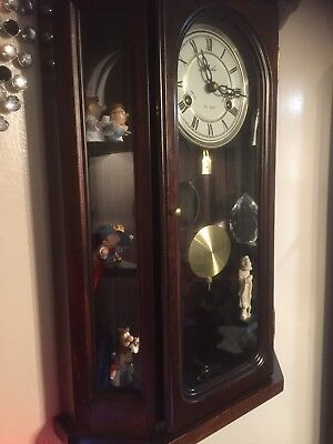 Antique 31day  Pendulum Mahogany Wall Clock