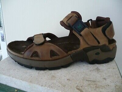 9c85fa4d8a5 Allrounder by Mephisto Men s Alligator Brown Leather Sandals Size 41 7 US.