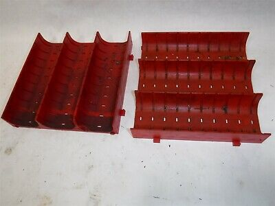 "Used CHEAP Lot 63 LISTA X1645 Slotted Groove Trays Divider 6"" x 6"" x 1"" B"