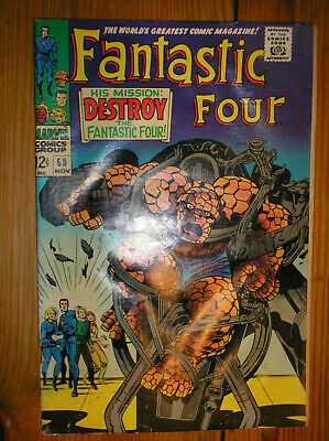 FANTASTIC FOUR # 68 CRYSTAL STAN LEE KIRBY 12c 1967 SILVER AGE MARVEL COMIC BOOK