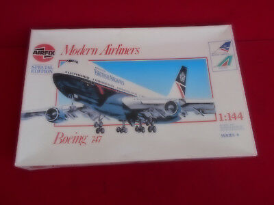 AIRFIX MODERN AIRLINERS Boeing 747 British Airways/Alitalia Aircraft model  1:144