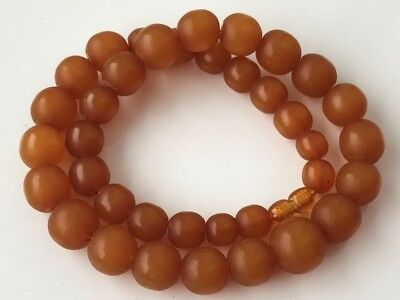 VINTAGE Beautiful Butterscotch / Egg Yolk Baltic Amber Beads Necklace! 41 gr