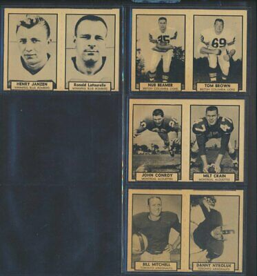 Ultra-Rare 1962 Topps CFL Lot of 4 Wrongback Variants Not in Guide CFL Football