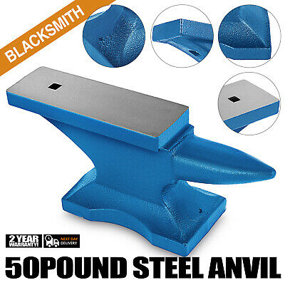 Iron Anvil Blacksmith Single Beck Cast Iron 50LBS(22.5KG) With 2.1cm Square Hole
