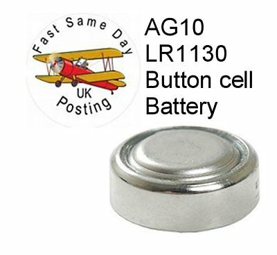 2 x  pcs AG10 GP189 SR54 LR1130 L1131 1.5V Alkaline Button Cell Battery