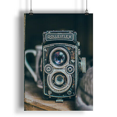 Vintage Retro Old Classic Camera  A0 A1 A2 A3 A4 Satin Photo Poster a277h