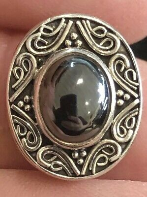 Authentic Lori Bonn Bons Silver Black .925 Sterling Silver Slide Charm Rare