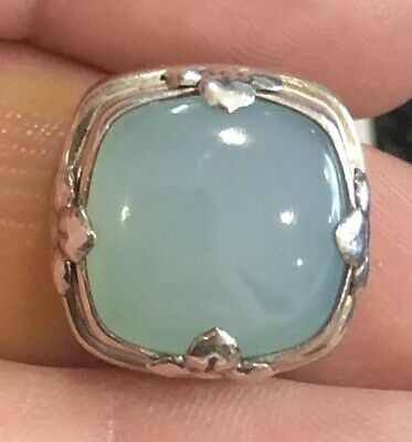 Authentic Lori Bonn Bons Tiffany Blue .925 Sterling Silver Slide Charm Rare