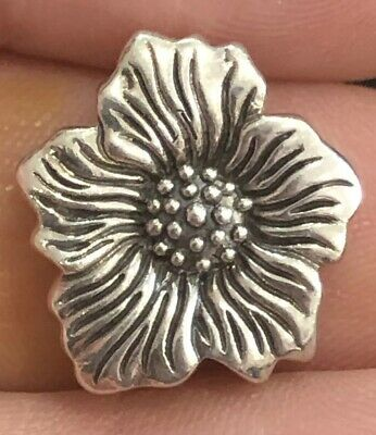 Authentic Lori Bonn Bons Sunflower .925 Sterling Silver Slide Charm Rare