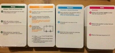 GCSE Geniass 3 Sciences & Maths Revision card bundle:AQA OCR EdExcel compatible