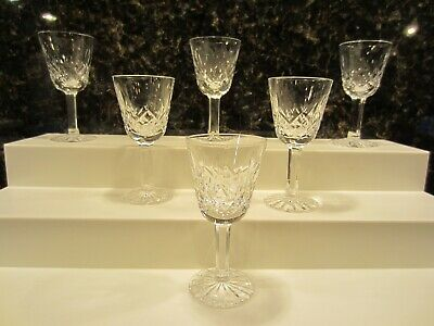 Set of 6 Waterford Lismore Liquor Liquer Cordial Glasses 3 1/2 inches