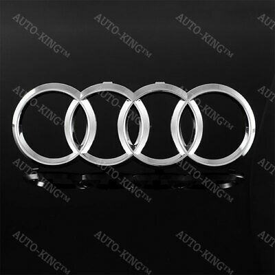 New Audi Rings Chrome Grill Front Hood A1 A3 A4 S4 A5 S5 A6 S6 SQ7 Badge Emblem