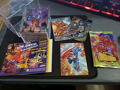 1996 Marvel Fleer Ultra Cards Onslaught complete base set w/ Promos Insert book