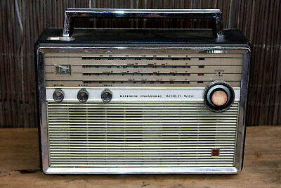 C1966 National Panasonic T-100D 4 Band 9 Transister Radio Battery Only Model-
