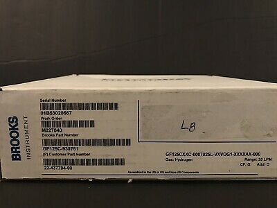 NEW Brooks Instrument Mass Flow Controller GF125CXXC Gas: HYDROGEN Range:25 LPM