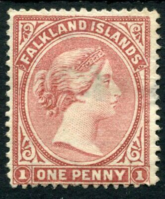 Weeda Falkland Islands #7 Unused 1886 issue 1p claret Queen Victoria CV $95.00