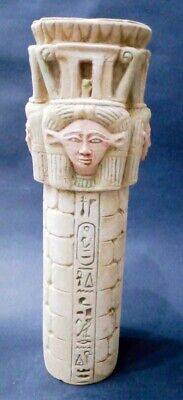Rare ANCIENT EGYPTIAN ANTIQUES STATUE Of HATHOR Stand EGYPT Hand Carved Stone BC