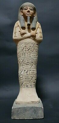 ANCIENT EGYPTIAN ANTIQUES USHABTI (SHABTI) With Hieroglyphics EGYPT STONE BC
