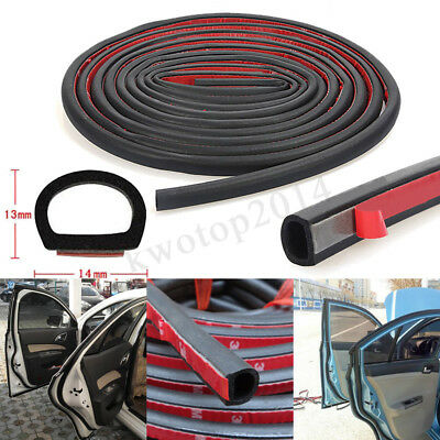 4M D-Shaped Door Rubber Weather Seal Hollow Strip Dust-proof Car Truck