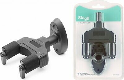 Stagg Auto-Locking Adjustable Wall-Hanger GUH-TRAP For Guitar, Bass, Uke & More!